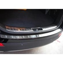 2pcs Rear Bumper Protector Tail Tailgate Trunk Guard door sill scuff plate fit for Hyundai Grand SantaFe 2013 14 15 16 5 7seats