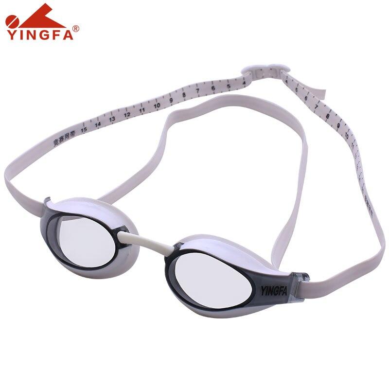 Арена профессиональные гоночные плавательные очки для бассейна Yingfa унисекс регулируемые очки водонепроницаемые противотуманные очки