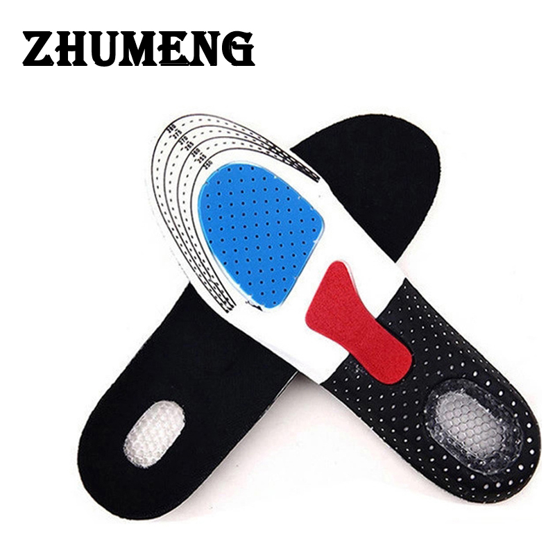 ZHUMENG EVA Orthotic Shocker Support Sport Shoe Pad Running Gel Insoles Insert Cushion Men Scholls Insoles Palmilha Sneakers