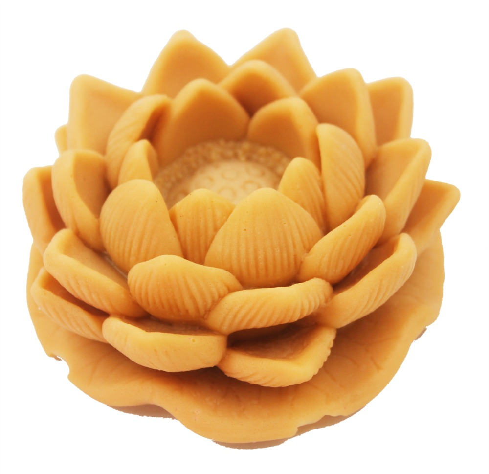 Silicone Soap Mold shape Lotus Flower Mould Craft Art Silicone 3D Soap Mold Craft Molds DIY Handmade Candle Molds S592