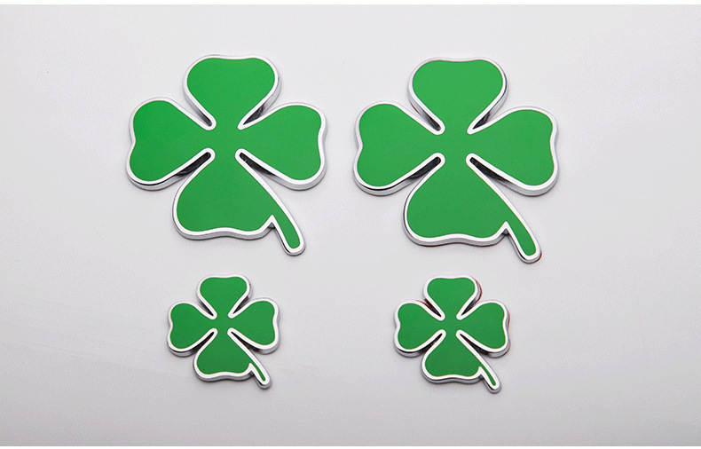US $110 0 |Metal Chromed Four Leaf Clover Emblem Badge Sticker-in Car  Stickers from Automobiles & Motorcycles on Aliexpress com | Alibaba Group