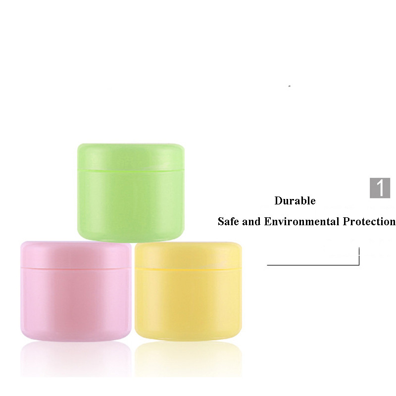 10g 20g 30g 50g 100g 150g Refillable Bottles Plastic Empty Makeup Jar Pot Travel Face Cream Lotion Cosmetic Container 5 Colors in Refillable Bottles from Beauty Health