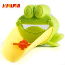 Extensor Torneira KIMIFUN 1 pcs bebe Brinquedos de Banho Bonito Dos Desenhos Animados Para Crianças miúdo Criança banheiro Lavar As Mãos Na Pia Do Banheiro Verde sapo