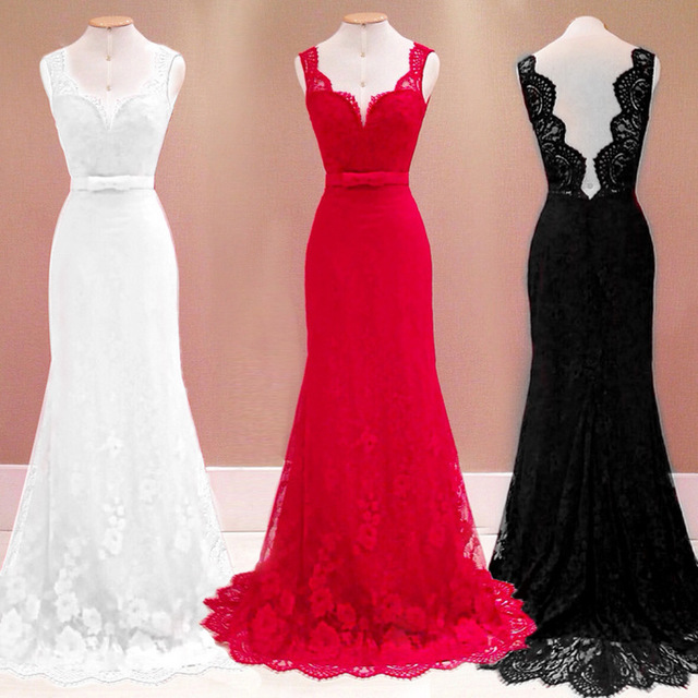 2018 Hot Sale Superior Embroidery Self-cultivation Cut-out Nigerian Lace  Evening Gown Dress Sexy Deep V-neck Court Train Dress e76d82061099