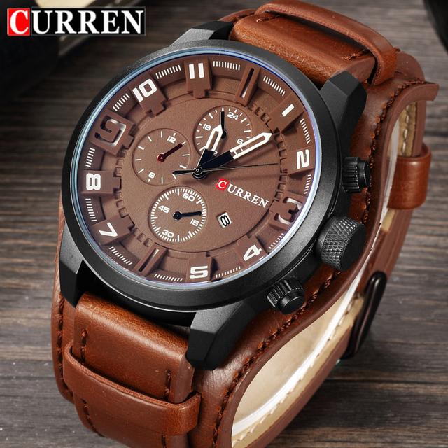 Curren Men Watches Top Brand Luxury Quartz Watch Men Military Sport Dropship Clock Hodinky Relojes Hombre Relogio Masculino 8225