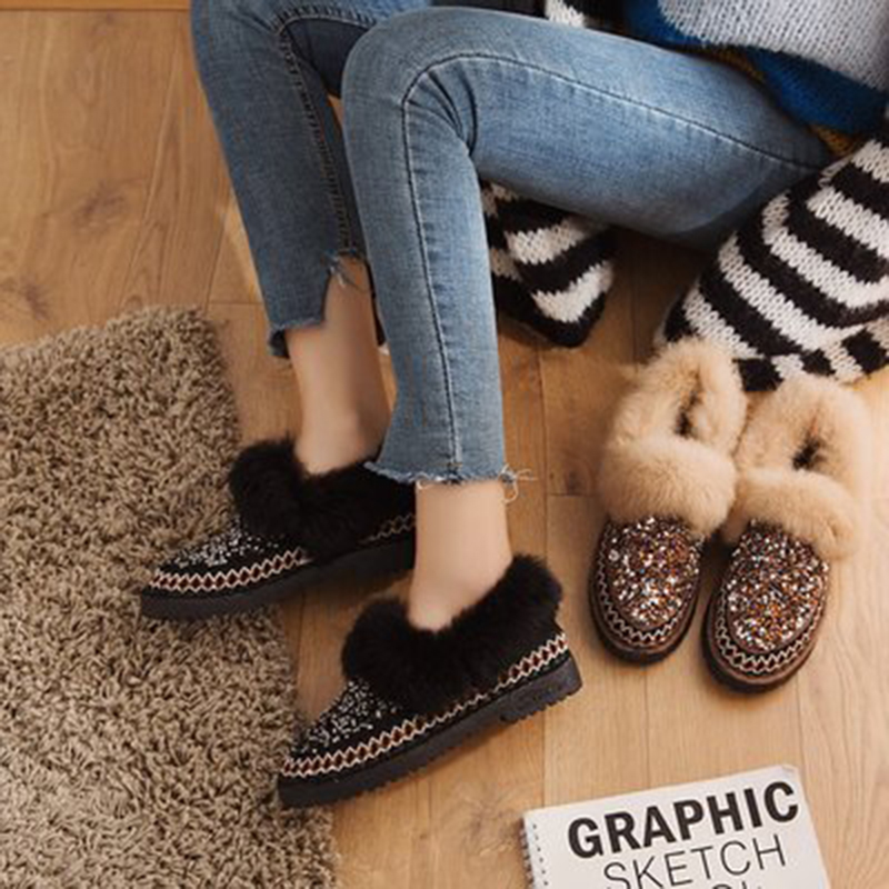 Des kaki En Femelle Noir Fenlunna Dames Femmes Chaussures Mode Ventilation 2019 Peluche D'hiver Chocs Artificielle Absorption Nouvelle 8wk0PnO