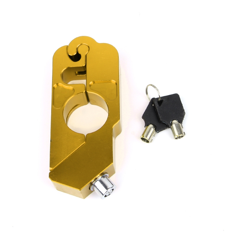 Gold/Black/Red Motorcycle Handlebar Lock Scooter Brake Security Theft Protection ATV Brake Clutch