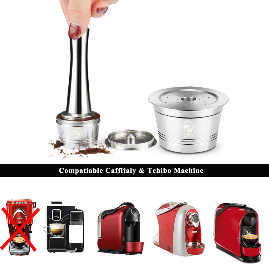 Icafilas Reusable Capsule Dripper Stainless Steel Compatible