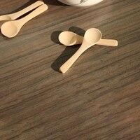 100Pcs Mini Nature Wooden Home Kitchen Cooking Spoons Tool Scooper Salt Seasoning Honey Coffee Spoons
