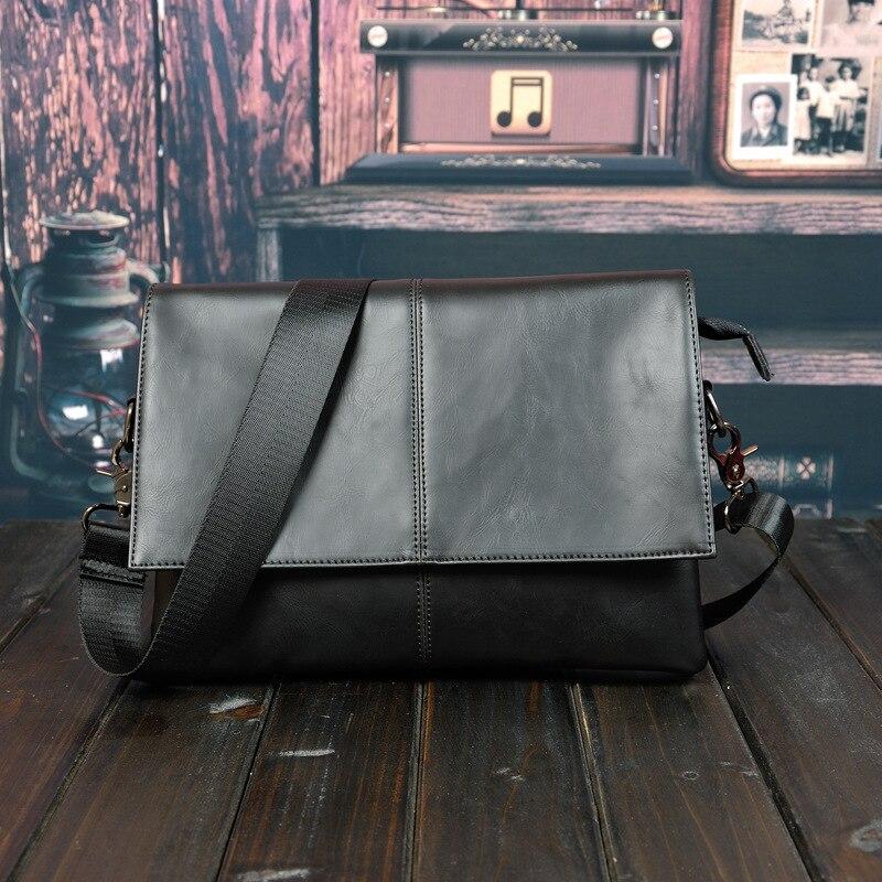 Crazy Horse PU Leather Briefcase Men Business Bag Men Briefcase Leather Laptop Bag Tote Male Office Bag Handbag Big