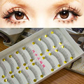 Venda quente! 10 Par Natural Baixa Fundo Falso de Maquiagem Cílios Limpar Banda Longas Eye Lash 217 Transporte da gota
