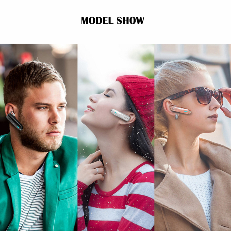 Wireless music earphone noise cancelling bluetooth headphone handsfree with microphone super long standby time