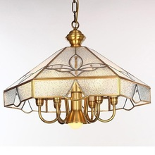 Restaurant Dining room Copper Lamp Chandeliers American Pastoral Style Bar Light  for Kitchen Bedroom 2026