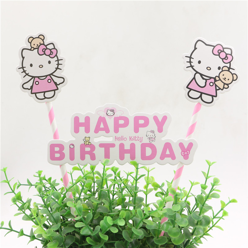 Online Get Cheap Happy Birthday Cake Topper Set Kids Aliexpress