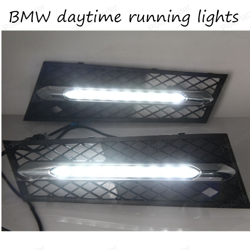 ФОТО DRL High light car LED day running lights, auto front bumper led fog lamps for BMW 5 Series 11-12