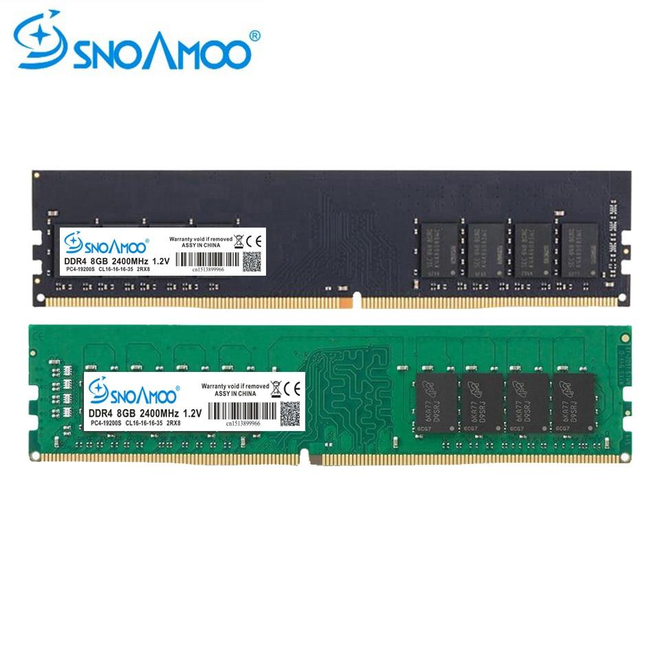 купить SNOAMOO Desktop PC RAMs DDR4 4G 2133MHz PC4-17000S 1.2V DIMM 8G 2400MHz PC4-19200S CL16 Compatible For Intel RAM Memory Warranty по цене 2864.55 рублей
