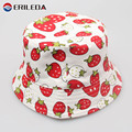 2017 Girls Sun Hat Fruit Strawberry Summer Cap For Girls Fashion Children Fisherman Hat