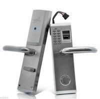 LACHCO биометрический дверной замок отпечатков пальцев, пароль, механический ключ цифровой код замок без ключа Нержавеющаясталь lk902FS