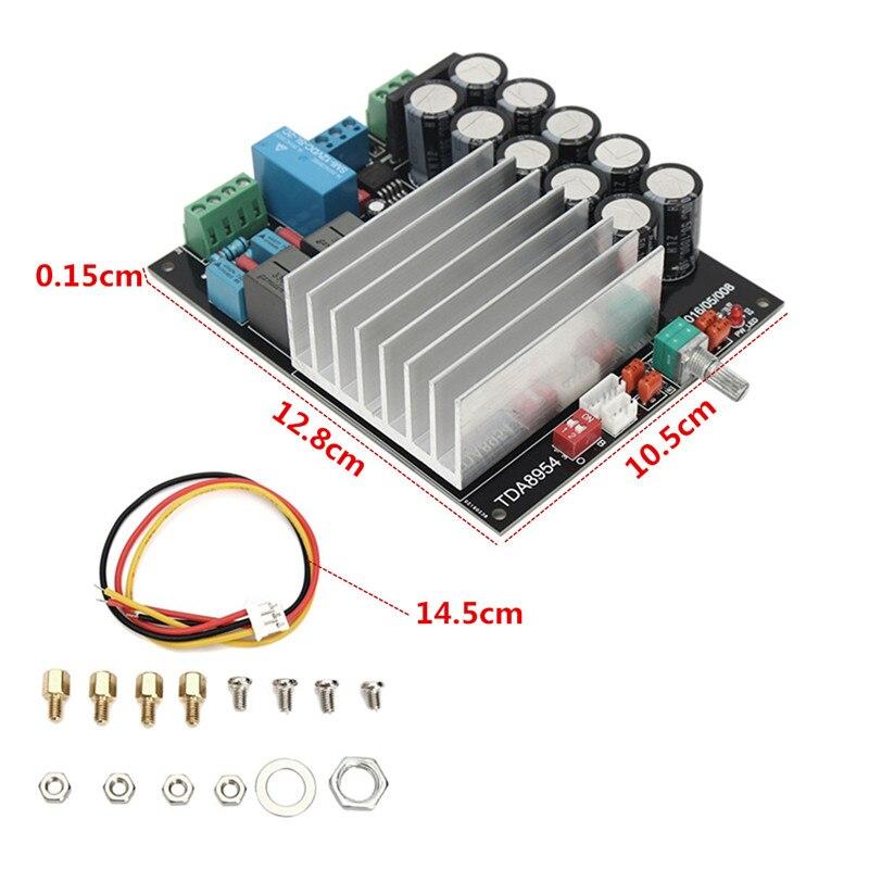 TDA8954 Stereo 2.0 Channel Class D Power Amp Digital Amplifier Board 210W+210W tda7294 lm3886 5 1 channel pure power amp board