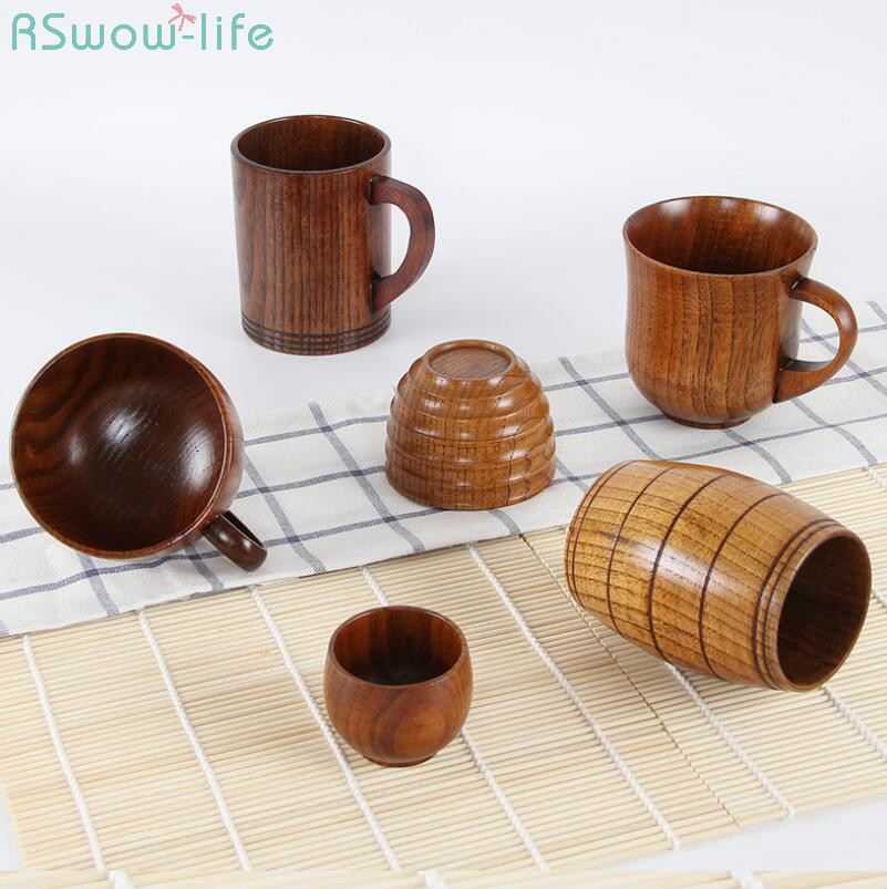 Japanese Wooden Cups Creative Jujube Insulated Coffee Drinking Gifts