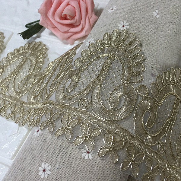 New Design Lace Trims Lace Fabric Sewing Applique Home Tablecloth Curtain Decor Bridal Dress Clothing Accessories