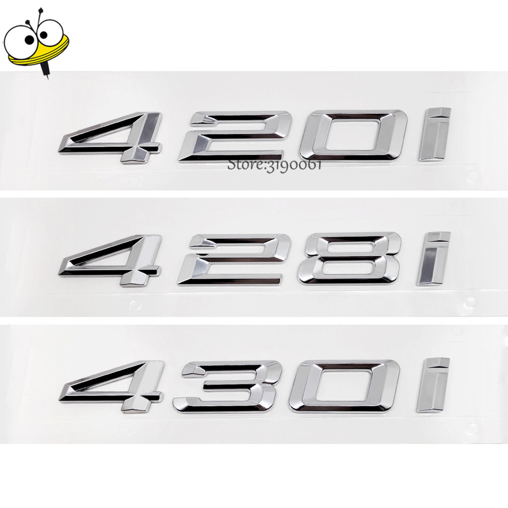 For BMW DIY Sticker Exterior Car-styling Metal Auto Car Sticker Decal Badge Emblem For BMW 4 Series 420i 428i 430i 420 428 GT auto car motorcycle metal 3d alienware alien head ufo badge emblem decal sticker