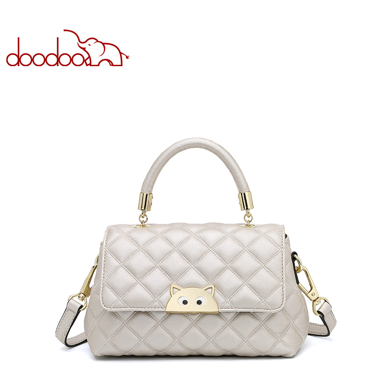DooDoo Classic Women's Messenger Bag Cover Woman Hand Bag Designer Handbags High Quality 2018 New Leisure Shoulder Bags Bolsas 2015 special offer bolsas designer handbags high quality korean manufacturers selling new are cross printed student bag cheap