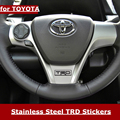 TRD 3D Car Stickers for Toyota TRD Toyota Steering Wheel Sticker TRD Metal Emblem Refit Badge Sticker Car Styling Accessories