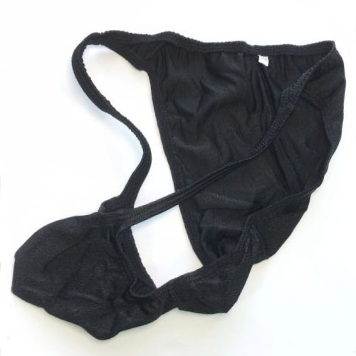 Sexy hommes brillant sous-vêtements rayés Jockstrap Cueca Gay hommes tongs Sissy culottes slips grande taille tongs Tanga String Homme