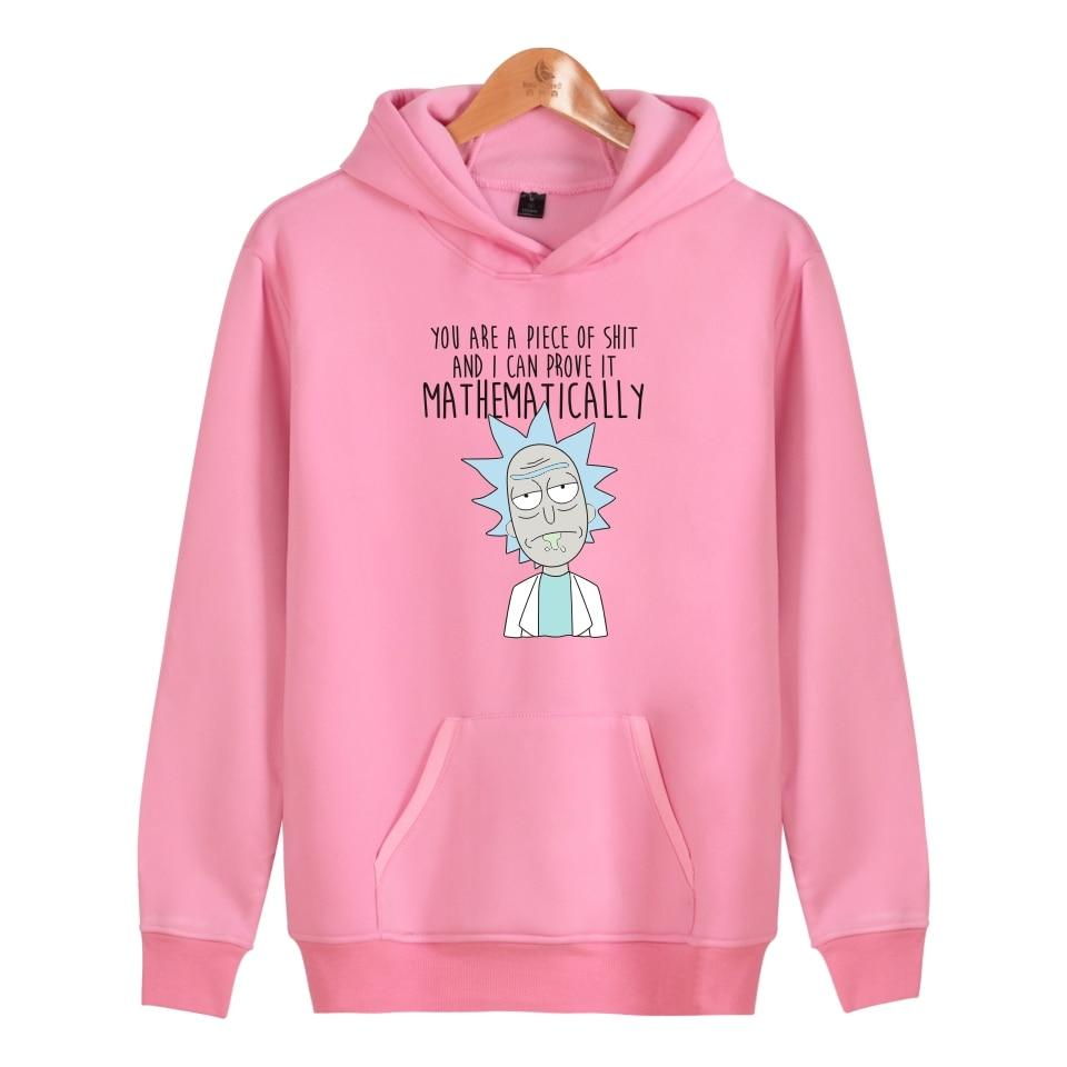 Image 4 - Rick and morty Hoodies Autumn winter Character fashion Anime Men Sweatshirt Cartoon Funny mens hooded sweatshirts Rick and morty-in Hoodies & Sweatshirts from Men's Clothing