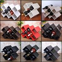 Pan Ya wine rack ornaments Wine bottle rack wood display lattice household living room European wine bar
