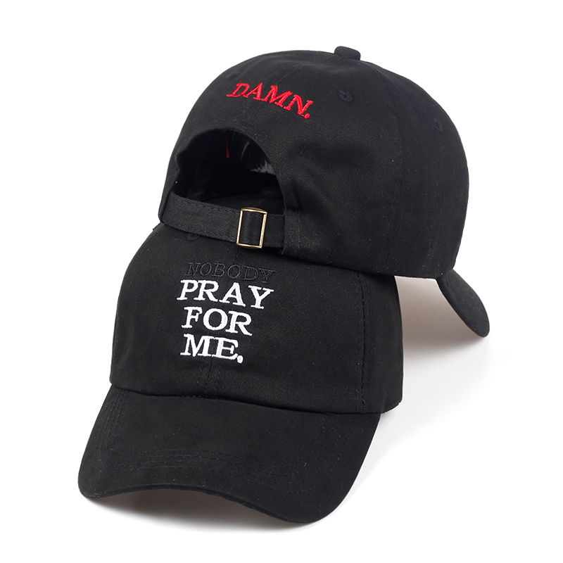 2018 NEW Summer Embroidery DAMN. dad hat NOBODY PRAY FOR ME. Adjustable Hip Hop Snapback Baseball Caps damn Hats cntang brand summer lace hat cotton baseball cap for women breathable mesh girls snapback hip hop fashion female caps adjustable
