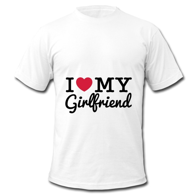 7a47f25a Customize Mens T Shirt Printing I Love My Girlfriend funny t shirts custom  your own shirt