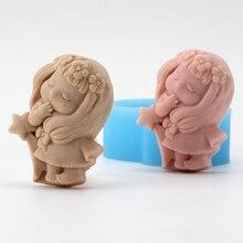 Дева мыло силиконовые формы 12 созвездий темы ручной работы смолы глины шоколадные конфеты плесень