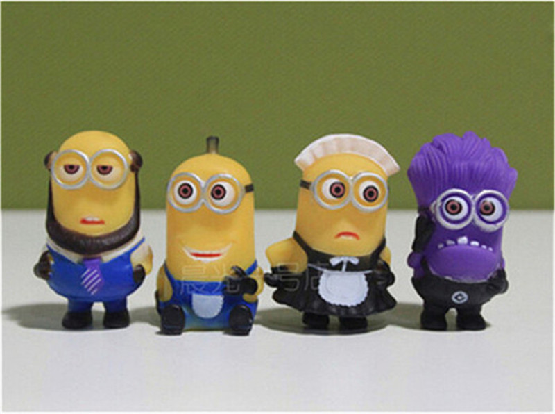 8Pcs Despicable Me Minion Character Display Figures Kids Cake