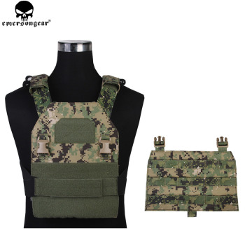 Emersongear Hunting Vest APC Tactical Vest Back Panel Simple Version Airsoft Vest Paintball Military Protective Vest Aor2 EM7328 фото
