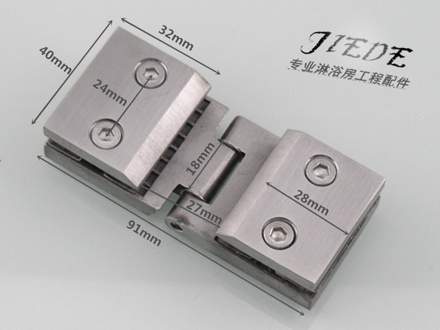 304 Stainless Steel Casting Glass Door Hinge Cupboard Door Clip