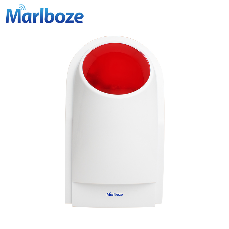 Marlboze J008 433mhz 125dB Outdoor Wireless Flashing Siren Strobe light Siren for our G18, W1, W2, G19, X1 Alarm System цена и фото