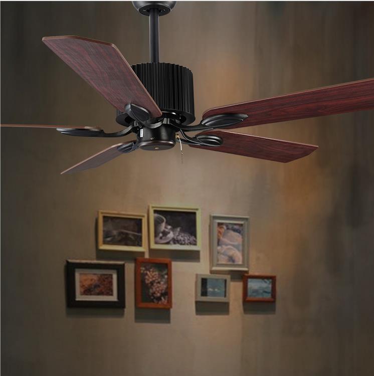 Hohe Qualität Loft Fan Kronleuchter Retro Esszimmer Haushalt Elektrischen  Ventilator Stumm Led Fernbedienung Blatt Fan Lampe In Hohe Qualität Loft  Fan ...