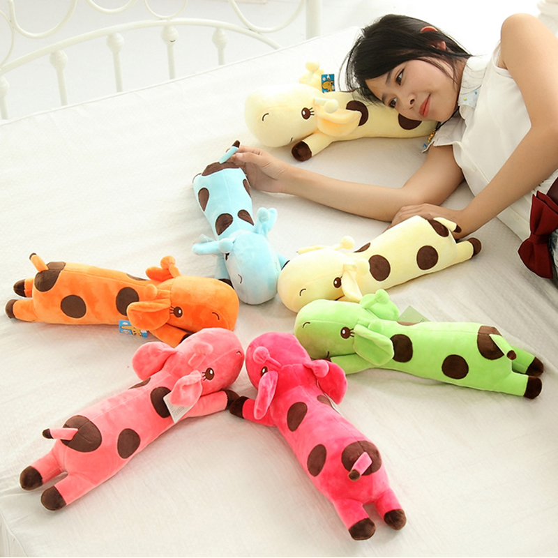 1pc 40CM Plush Lie Giraffe Pillow Staffed Deer Plush Toy Nap Pillow Christmas Gift High Quality