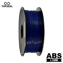 TOPZEAL أزرق داكن اللون خيوط طابعة ثلاثية الأبعاد ABS 1.75 مللي متر 1 كجم/2.2LBS المواد الاستهلاكية البلاستيكية ل MakerBot RepRap حتى Mendel