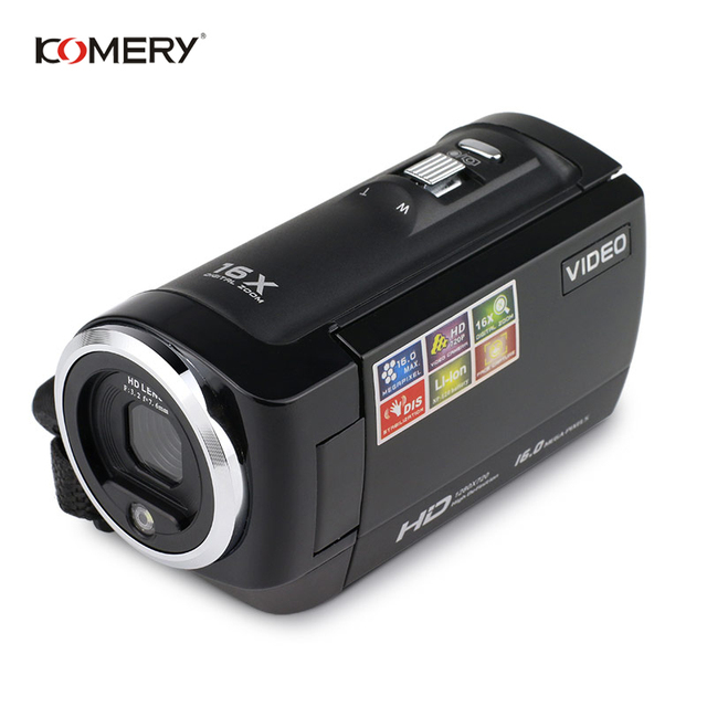KOMERY HD Video Camera 2.7 Inch LCD screen 16x Zoom Digital Anti-shake Mini Camcorder camara fotografica digital professional 1