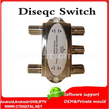 10PCS NEW 4 in 1 GD-41C 4×1 DiSEqC Switch Satellites FTA TV LNB Switch for satellite receiver free shipping