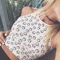 Estilo Summer blanco patrón extranjero Halter Top mujeres Tank Sexy Halter Crochet pechugón camisa corta de algodón corta sólida del tanque moda Top