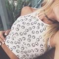 Estilo verão branco teste padrão estrangeiro Halter Top mulheres Sexy Halter crochê Bustier Top curto algodão sólidos curto tanque moda Top