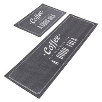 2Pcs/Set Natural Latex Antiskid Bottom Kitchen Mat Water absorbing Polyester Kitchen Floor Mat Oil absorbing Kitchen Rug