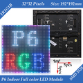 Wholesale 30pcs/lot 192*192mm 32*32 pixels 1/16 Scan 3in1 SMD RGB indoor full color P6 LED display module