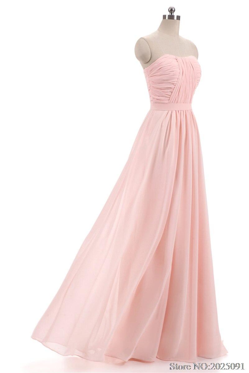 웃 유Nueva Rosa Lila gasa vestidos de dama de 2018 tamaño más ...
