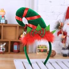 Nuova Fascia Di Natale Alce Cervo Elf Parte di Nuovo Anno Regali Per  Bambini Giocattoli Di 35c47ca38271