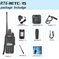 128ch 5w vhf uhf Retevis RT6 Waterproof מכשיר הקשר IP67 5W 128CH Dual Band VHF UHF רדיו FM VOX LCD תצוגה ניידת ללכת לדבר ווקי טוקי (5)